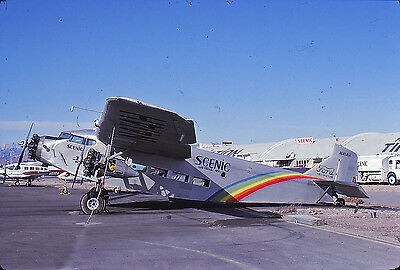 Scenic -Ford Trimotor -N414H -Kodachrome Slide Airline