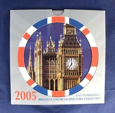 2005 Royal Mint 10 coin uncirculated set in folder    (A10/60)