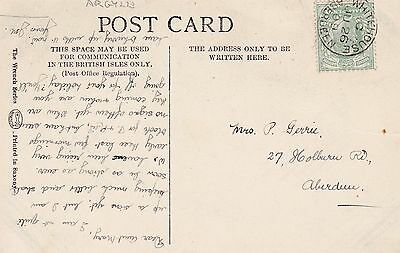 THIMBLE CANCEL WHITEHOUSE ABERDEEN Dated 1909 Dyce Kingswell Marywell Cults