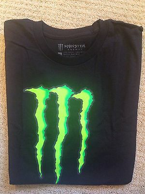 Monster Energy Drink Black XL Graphic LOGO Tee T Shirt-with promo bag BRAND NEW!