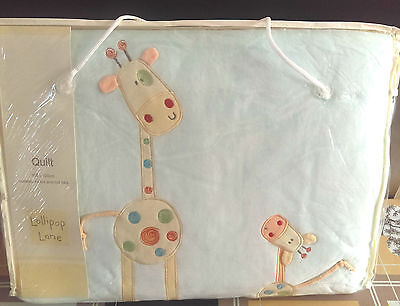 Lollipop Lane Will I Be Big One Day Cot Cot bed Quilt 100 X 120 CM