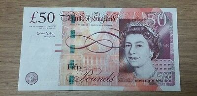 "New Rare Collector Bank Of England £50 Fifty Pound Note ""AB"" Prefix Chris Salmon"