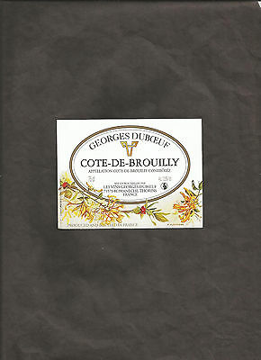 GEORGES DUBOEUF COTE DE BROUILLY 75 cl WINE BOTTLE LABEL