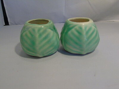 Pair of American Bisque Cabbage Planters