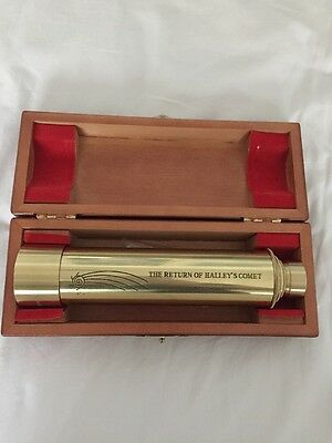 "1985-1986 ""The Return Of Halley's Comet"" Vintage Brass Telescope 30x40 mm"