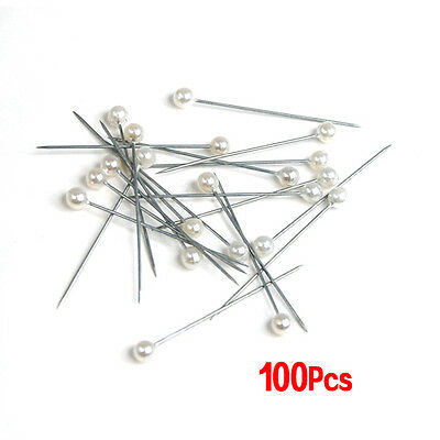 100pcs pearl pins white/ivory for wedding flowers/buttonholes/corsages CT P P3A4