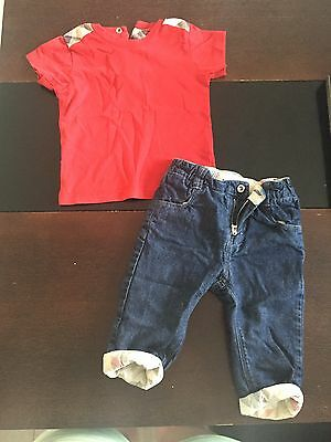 Burberry Baby Boys Outfit Size 3-6 Months