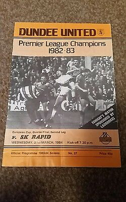 Dundee Utd v SK Rapid 1984 European Cup QF