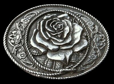 Rose Hippie Flower Floral Western Cowgirl Belt Buckle FleureBoucle de Ceinture