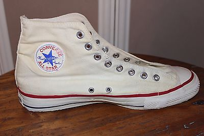 Vintage Chuck Taylor Converse All-Star shoes Off-White - Made in USA Size 11