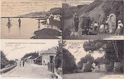 RARE LOT DE 27 CPA de SAINT-MICHEL-CHEF-CHEF (Loire Atlantique) DE L'ETE  1915