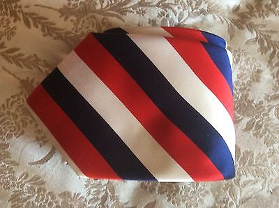 New.   Tm Lewin.   Silk Tie.     Red White And Blue Stripe