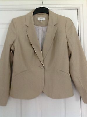 Marks And Spencer Linen Jacket Size 12. New No Tags.