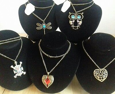 Joblot 5 New Necklaces Bagged