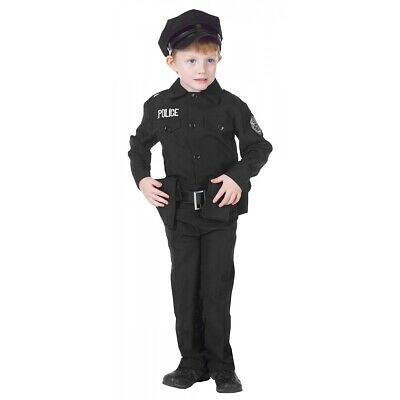 Police Costume Kids Policeman Police Officer Cop Halloween Fancy Dress