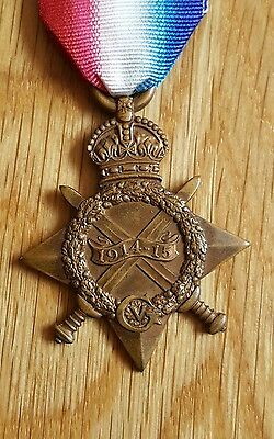 WWI 1914-15 Star Medal Fletcher Suffolk Yeomanry 15th Battalion