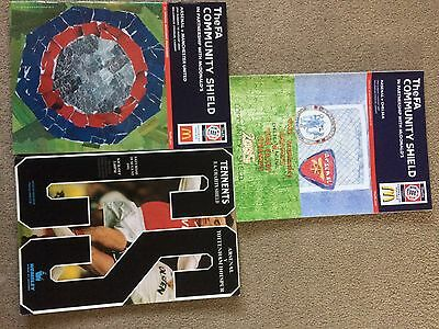 3 Arsenal Charity Shield Programmes