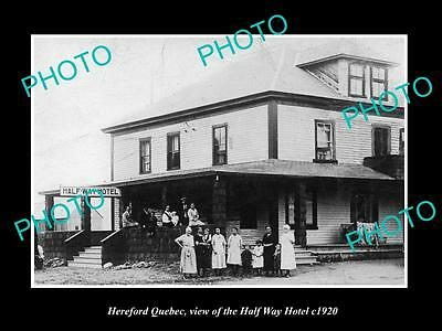 OLD HISTORIC PHOTO OF CANADA, HEREFORD QUEBEC, THE HALF WAY HOTEL c1920