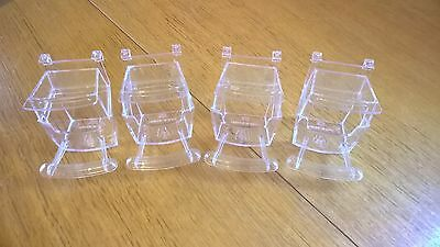 Bird Cup X 4(Budgie Cage Clip On Food Water Container)With Perch.