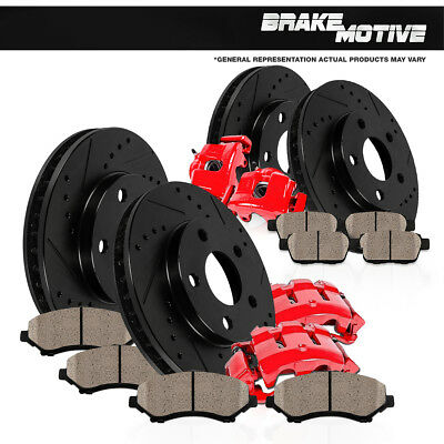 Front and Rear Brake Calipers and Rotors & Ceramic Pads EXCURSION F250 F350 4WD