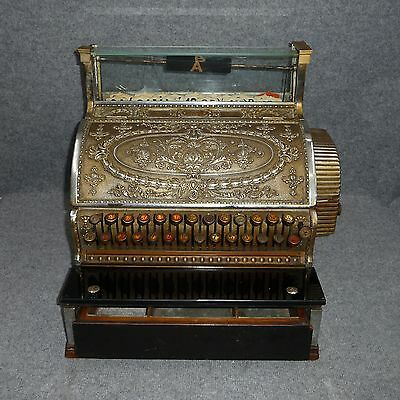 Jugendstil Registrierkasse National 346-2 Cash Register Kasse Antike Ladenkasse