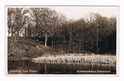 Real Photo B/w  Postcard  - Across The Pool - Dodderhill Common - Worcestershire