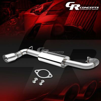 """4"""" Slant Muffler Tip Racing Axle Back Exhaust System For 11-16 Scion Tc Coupe"""