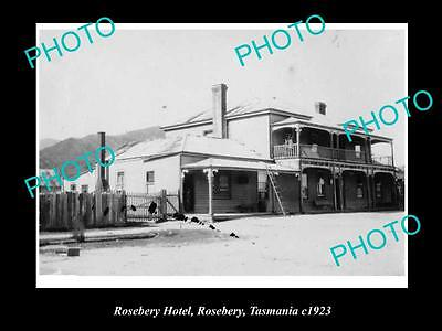 OLD LARGE HISTORIC PHOTO OF ROSEBERY TASMANIA, THE ROSEBERY HOTEL c1923