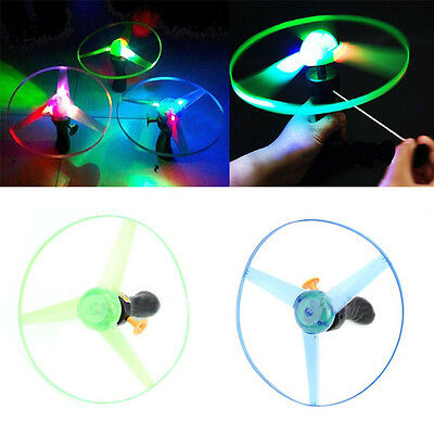 Spin LED Light Flying Saucer Frisbees Boomerangs UFO Lighting Toy Gifts