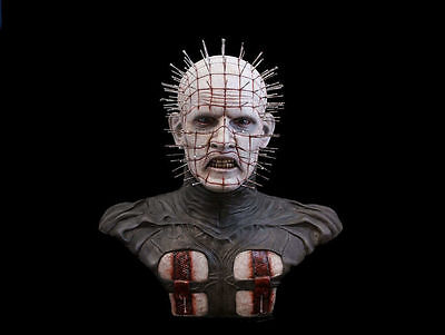 "1:1 Bust Hellraiser Hellworld Cenobite ""PINHEAD"" Movie Prop Replica RAW CASTING!"