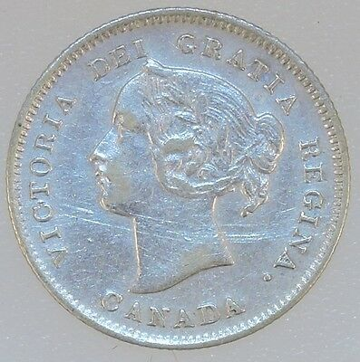 1899 Canadian Silver 5 Cent Piece - B3587