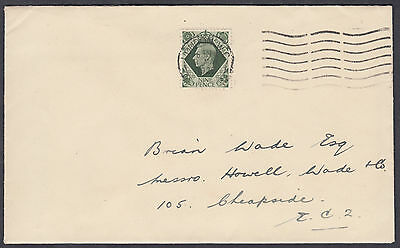 1939 9d olive-green KGVI Definitive FD; London WC M/C; 1 MAY; CAT £100