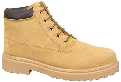 Mens Suede Leather Lace Up Fashion Ankle Desert Style Boots Size 11