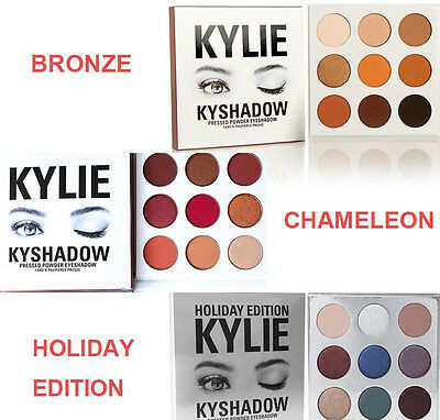 Kylie Cosmetics Bronze BURGUNDY Holiday edition 9 colors Eye shadow Palette.