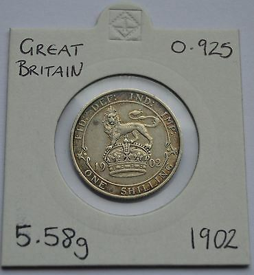 1902 Shilling With Rainbow Toning,antique Coin ,925