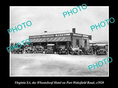 OLD LARGE HISTORIC PHOTO OF VIRGINIA SOUTH AUSTRALIA THE WHEATSHEAF HOTEL, c1920