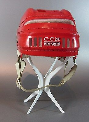 "Vintage C.C.M. Pro-Gard RED original Helmet Hockey 60s senior Size: 6 ¾"" - 8¼"""