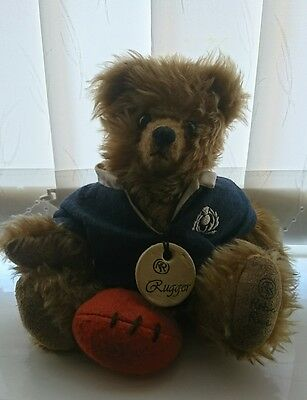 Robin Rive Scotland Rugby Teddy Bear Limited Edition Collectible
