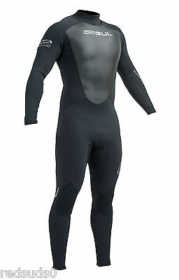 Gul Response Wetsuit 3Mm Mens Full Steamer Surf Watersports Surfing Kayak Black