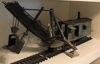 G Scale Log Coal Loader Crane Train
