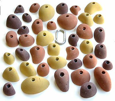 40 synrock bolt-on Climbing Holds COBBLES + Free Bolts
