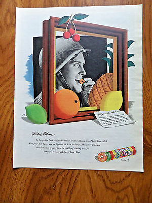 1944 Life Savers Candy Ad   Ww II Theme      Dear Mom