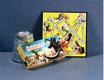 Dollhouse Miniature Godzilla Game 1960s Dollhouse movie monster game 1:12 scale