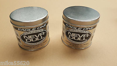 2 x EAGLE ONE NEVR-DULL WADDING POLISH 142g CHROME METAL ALUMINIUM CAR