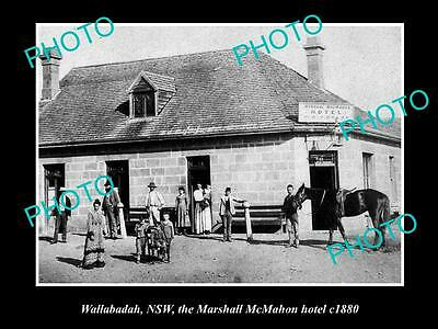 OLD LARGE HISTORIC PHOTO OF WALLABADAH NSW, THE MARSHALL McMAHON HOTEL c1900 2