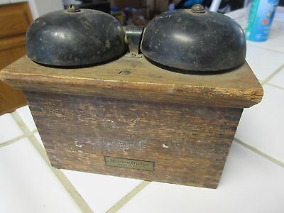 Antique Wood Telephone Ringer Box Western Electric Oak