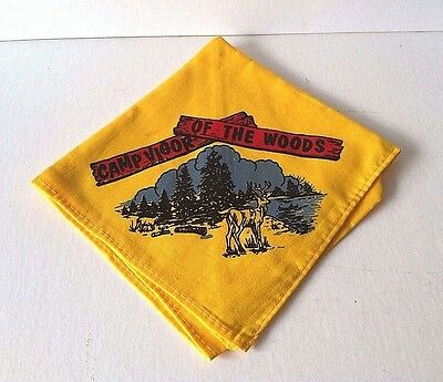 Vintage Camp Vigor of the Woods (NY) Neckerchief Boy Scouts of America ~ EXC.