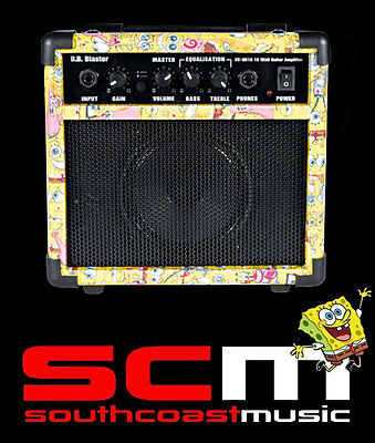 Amplifier Sale! Electric Guitar Practice Amp Spongebob Squarepants  Great Tone!
