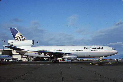 Continental -Dc10-30 -N68060 -Kodachrome Slide Airline
