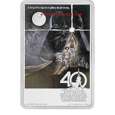 Star Wars 40th Anniversary 1oz Silver Coin Proof Niue 2017